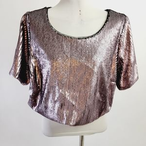 Ashley Nell 0x sequin top nwt